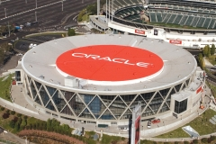 Oracle Arena Roof Graphics